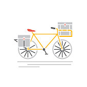 Logistics icon in flat design style with flat color. Easy to edit.