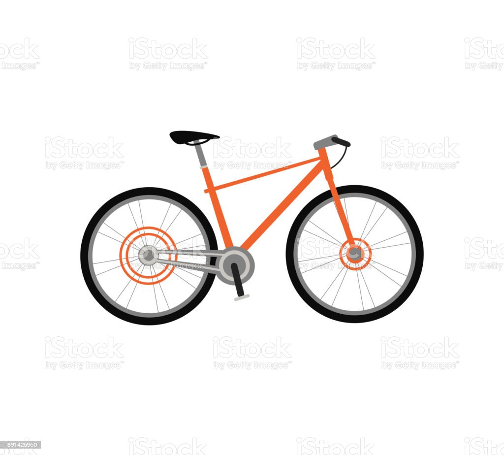 Bicycle Design Flat Isolated vector art illustration