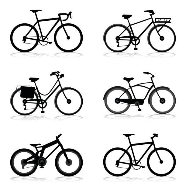ilustraciones, imágenes clip art, dibujos animados e iconos de stock de estilo diferente de la bicicleta - bastidor de la bicicleta