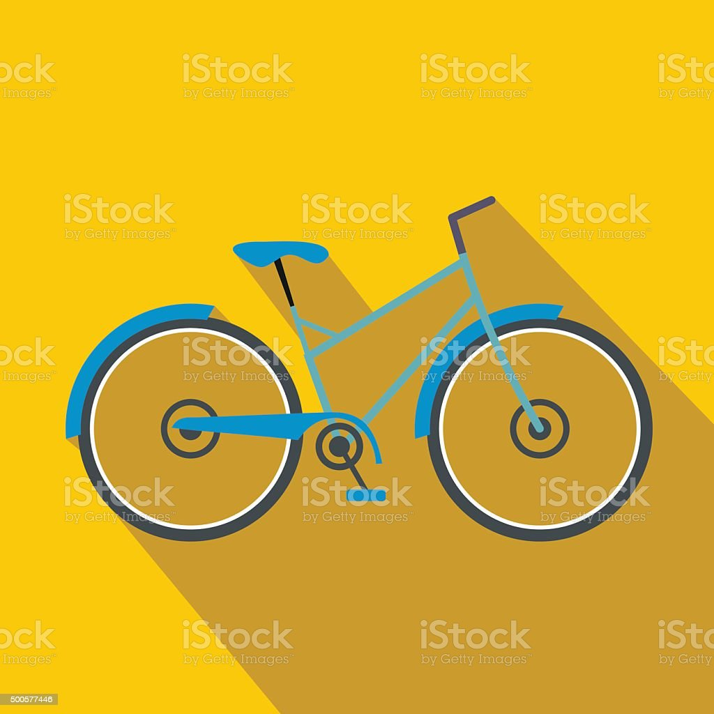 Bicycle flat icon vector art illustration