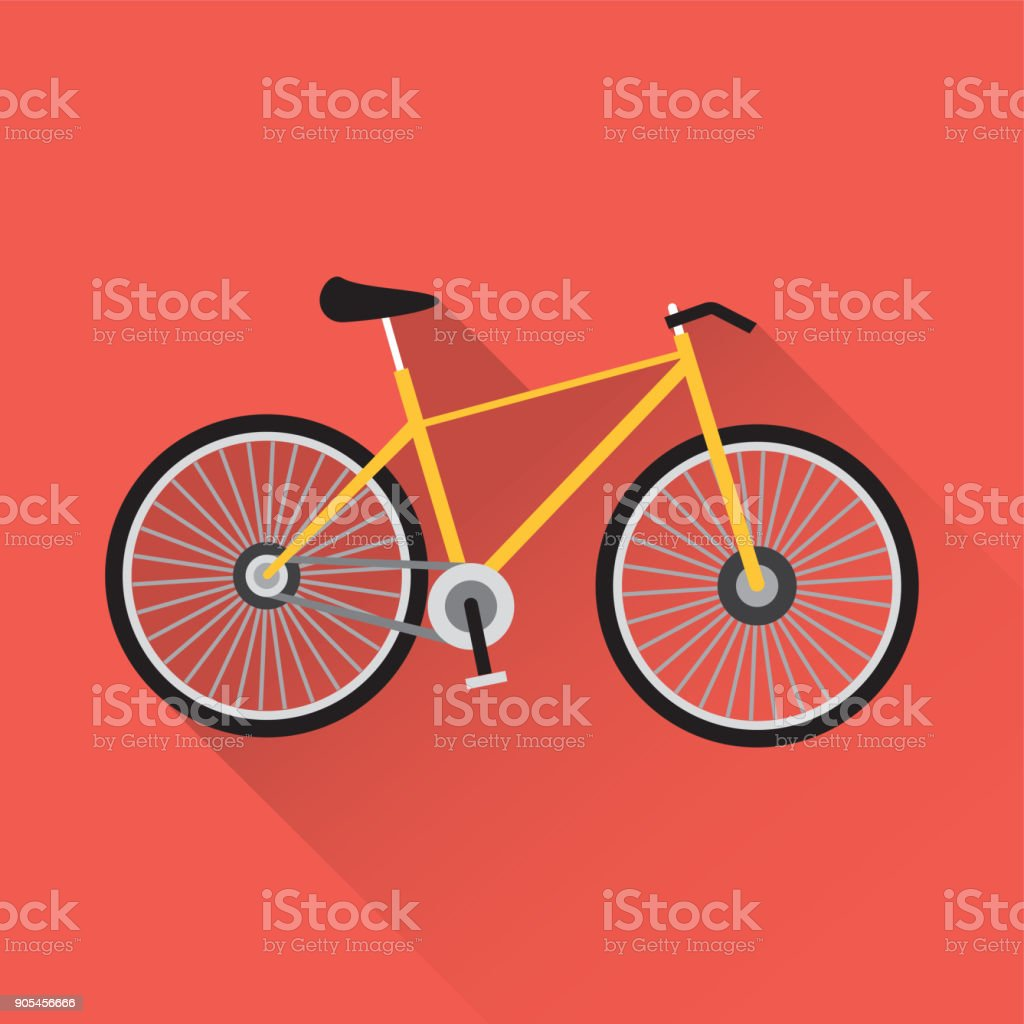 Bicycle Flat Icon - illustrazione arte vettoriale