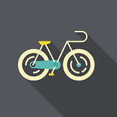 Flat vector illustration of a bicycle