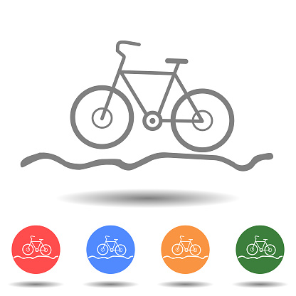 Bicycle for the off-road icon vector