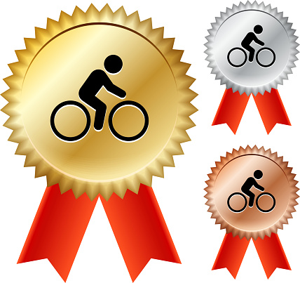 Bicycle  Gold Medal Prize Ribbons