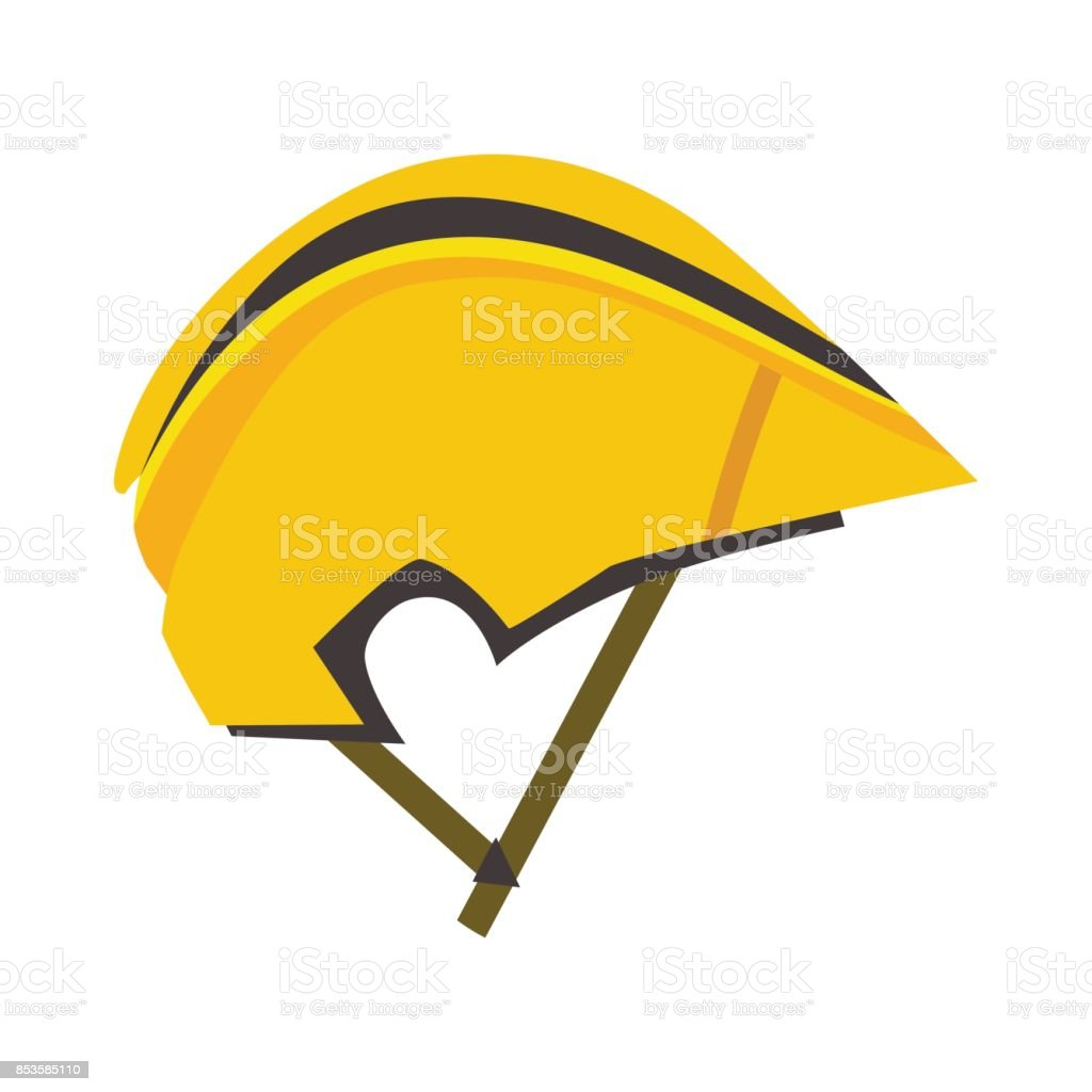 Bicycle helmet vector illustration protective wear crash cycling hat motorcycle accessory vector art illustration