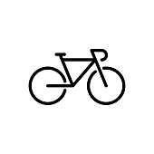 istock Bicycle icon flat vector template design trendy 1223033221
