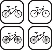 Bicycle icon - four variations