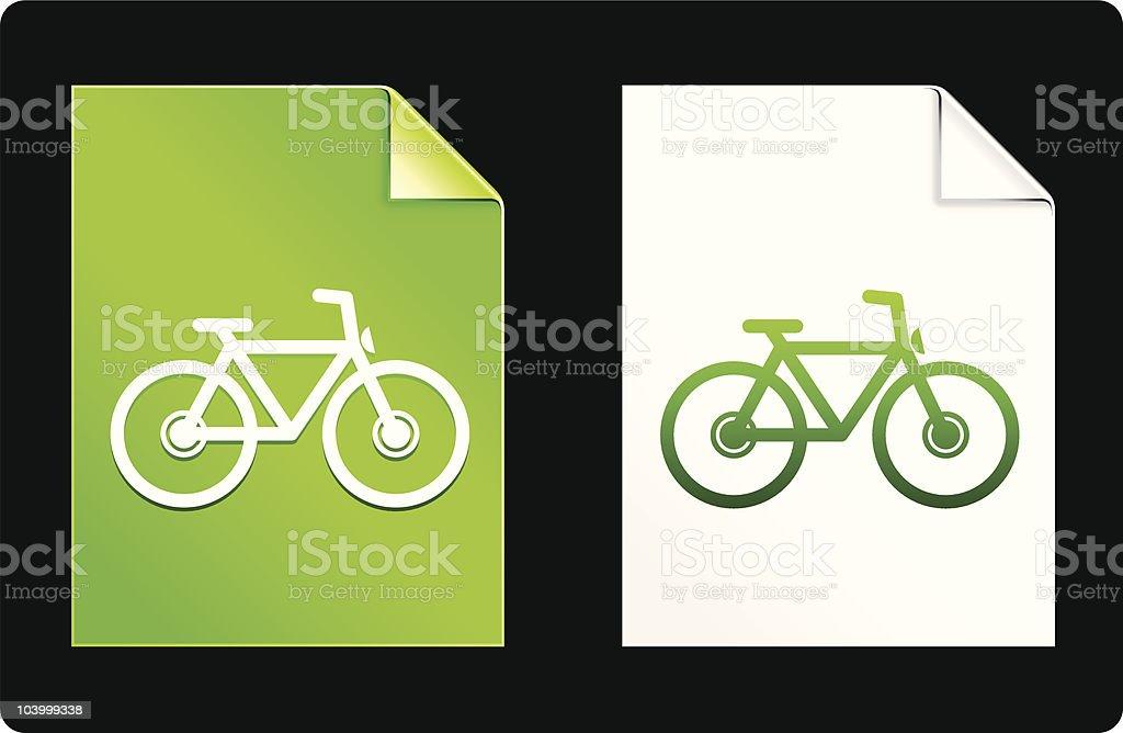 bicycle icon  greener environment design elements