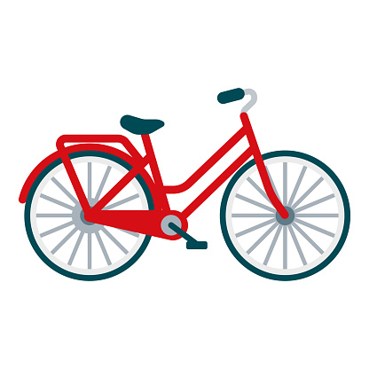 Bicycle Icon on Transparent Background