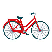 istock Bicycle Icon on Transparent Background 1283591249