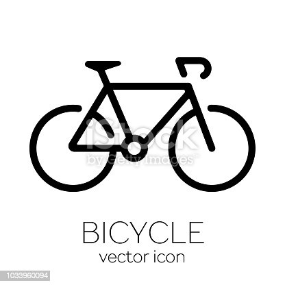 istock Bicycle icon on white background 1033960094