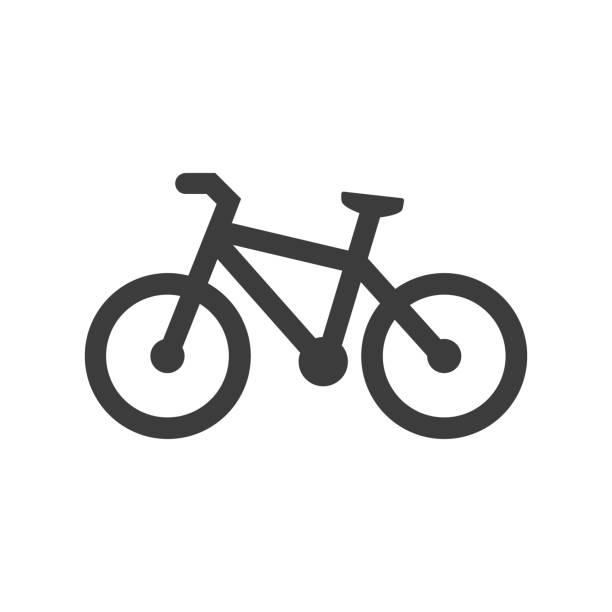 bildbanksillustrationer, clip art samt tecknat material och ikoner med cykel-ikonen på vit bakgrund. - cykla