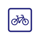 istock Bicycle icon on white background. 1243763530