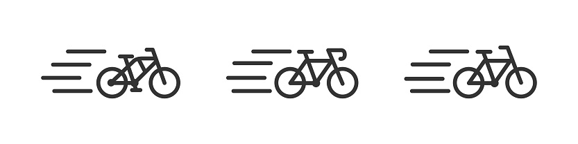 Bicycle icon set. Vector bike icons collection.