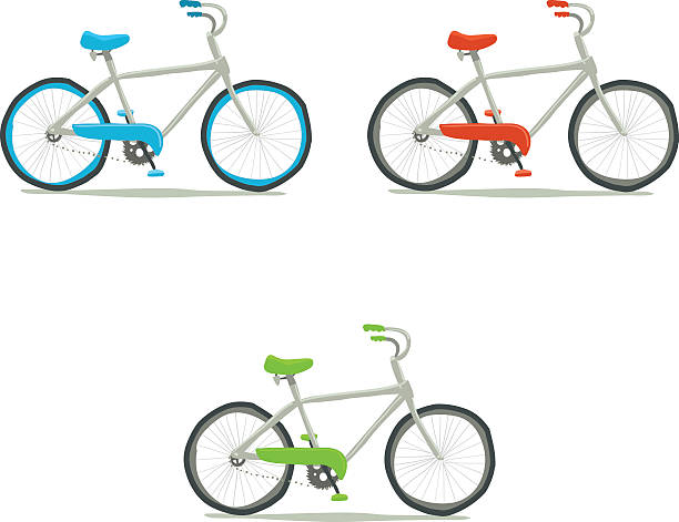Bicycle icon set. vector art illustration