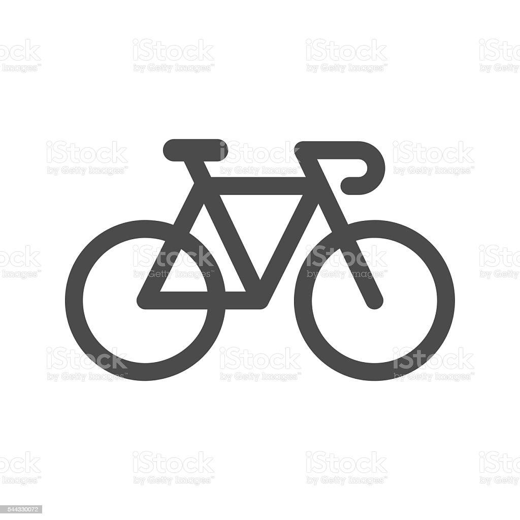 Bicycle Icon vector art illustration