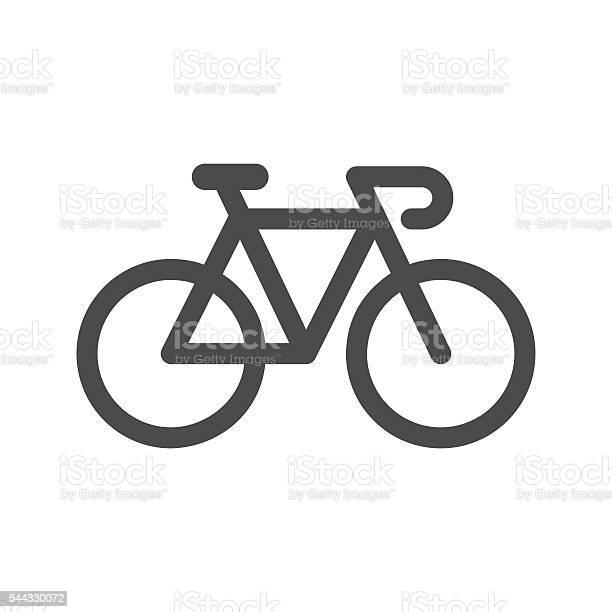 Ícone De Bicicleta - Arte vetorial de stock e mais imagens de Bicicleta