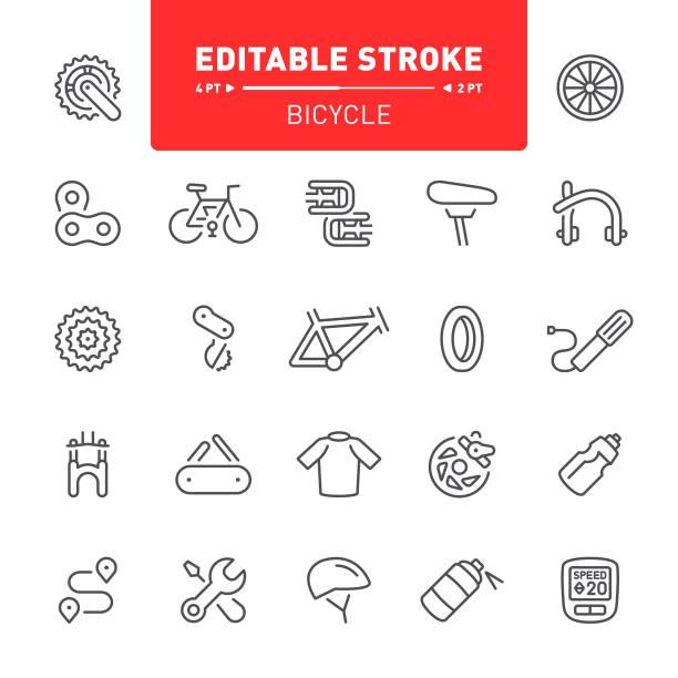 ilustraciones, imágenes clip art, dibujos animados e iconos de stock de iconos de bicicletas - bastidor de la bicicleta