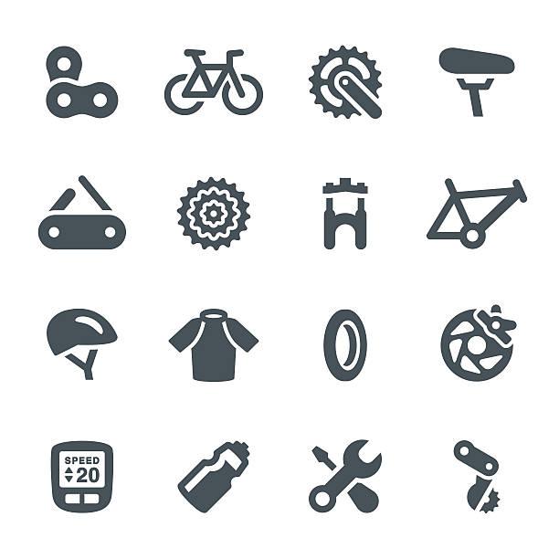 ilustraciones, imágenes clip art, dibujos animados e iconos de stock de iconos de bicicleta - bastidor de la bicicleta