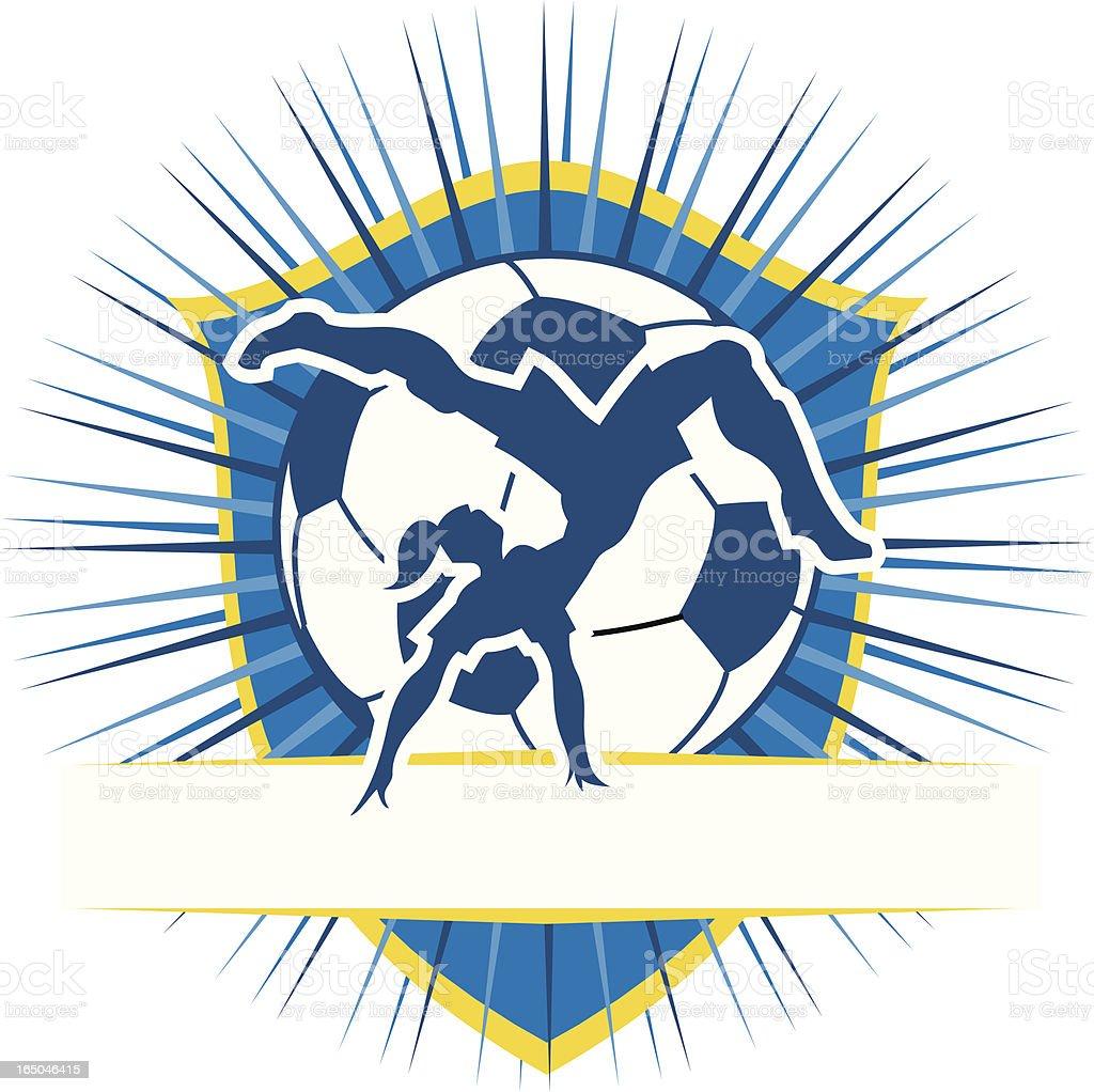 Bicycle Kick and Soccer Ball royalty-free stock vector art