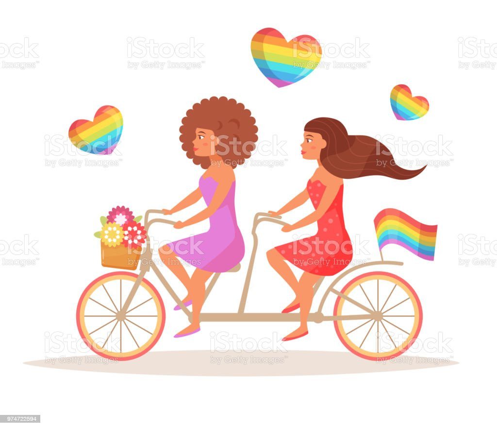Bicycle Lgbtq Vector Stock Illustration - Download Image Now
