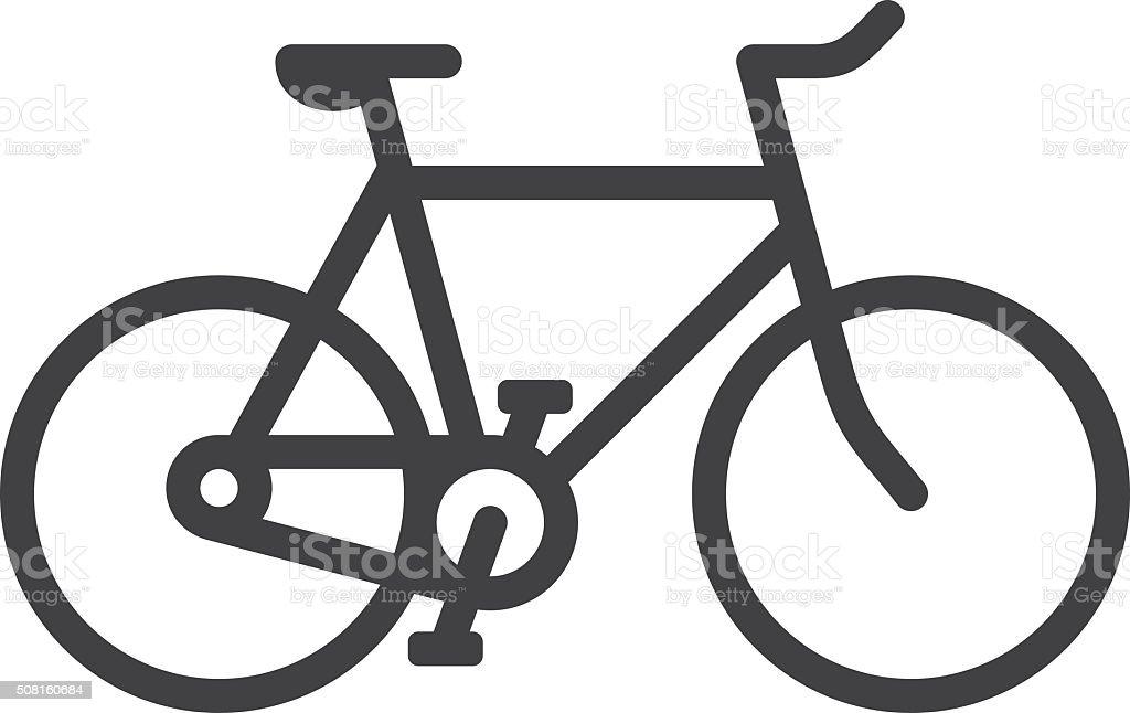 Ícone de linha de bicicletas - ilustração de arte vetorial