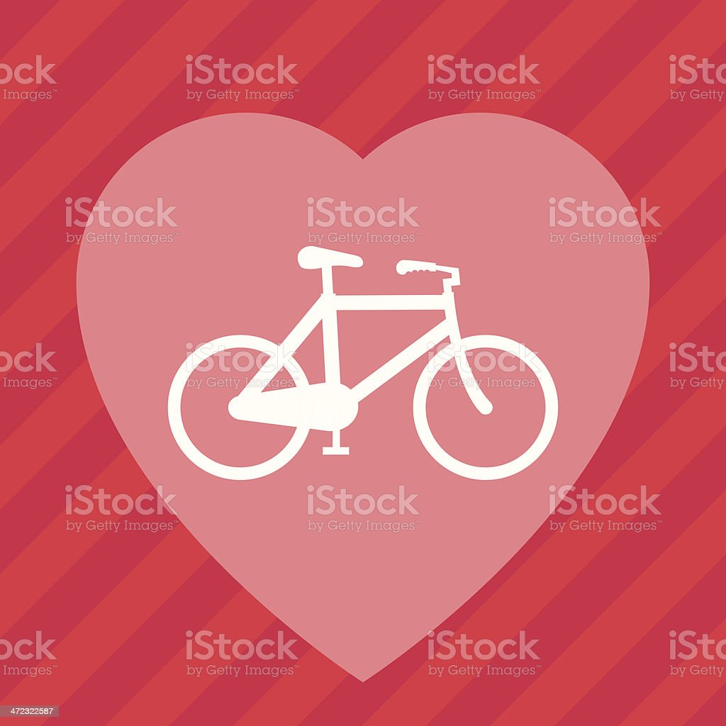 Bicycle love royalty-free stock vector art