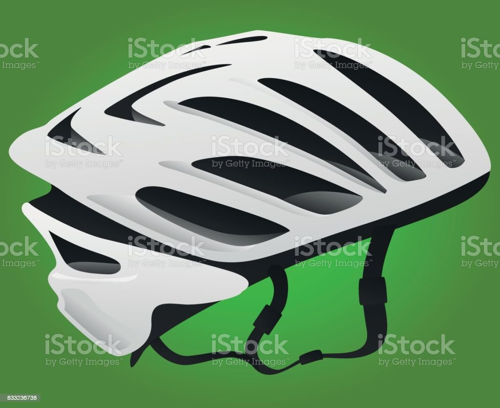 Bicycle or Cycling Helmet - Illustration vector art illustration