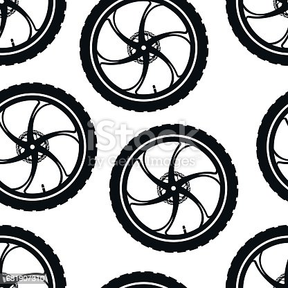 Bicycle Parts Pattern Made Of Cast Sports Bicycle Wheels Stock