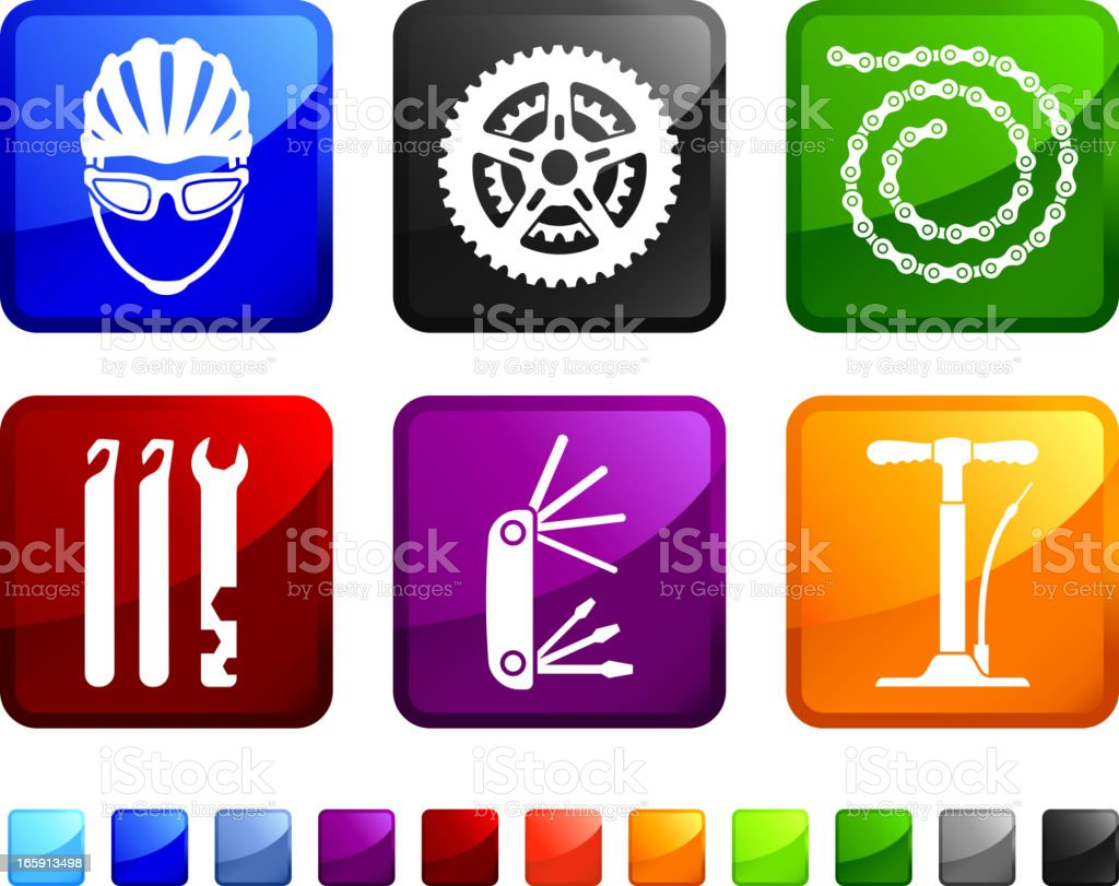 Bicycle Parts Repair royalty free vector icon set stickers royalty-free stock vector art