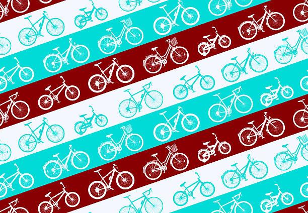 ilustraciones, imágenes clip art, dibujos animados e iconos de stock de patrón de bicicleta - bastidor de la bicicleta