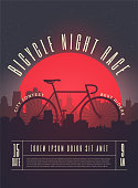Bicycle Race Contest Poster Flyer Banner Template. Vector Illustration.