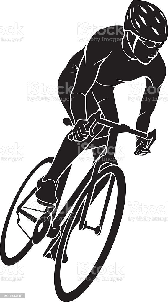 Bicycle Race Silhouette vector art illustration