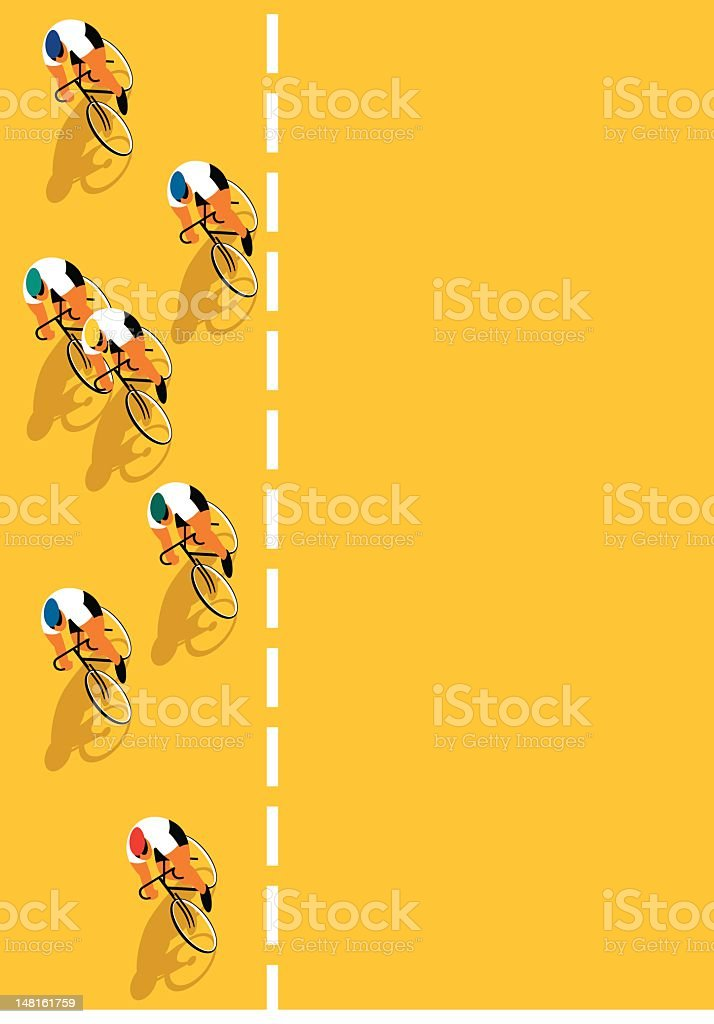 Bicycle race vector art illustration