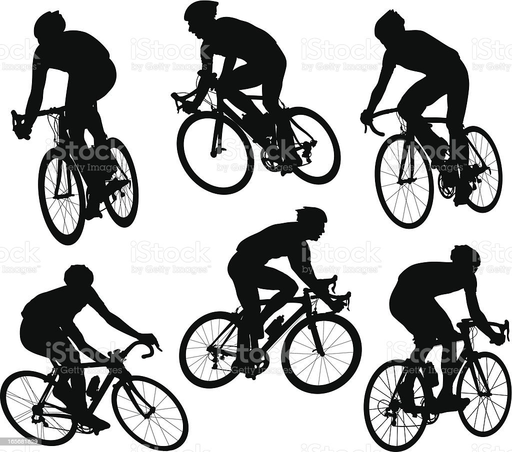 Bicycle Racers vector art illustration
