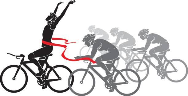 Bicycle Racing vector art illustration