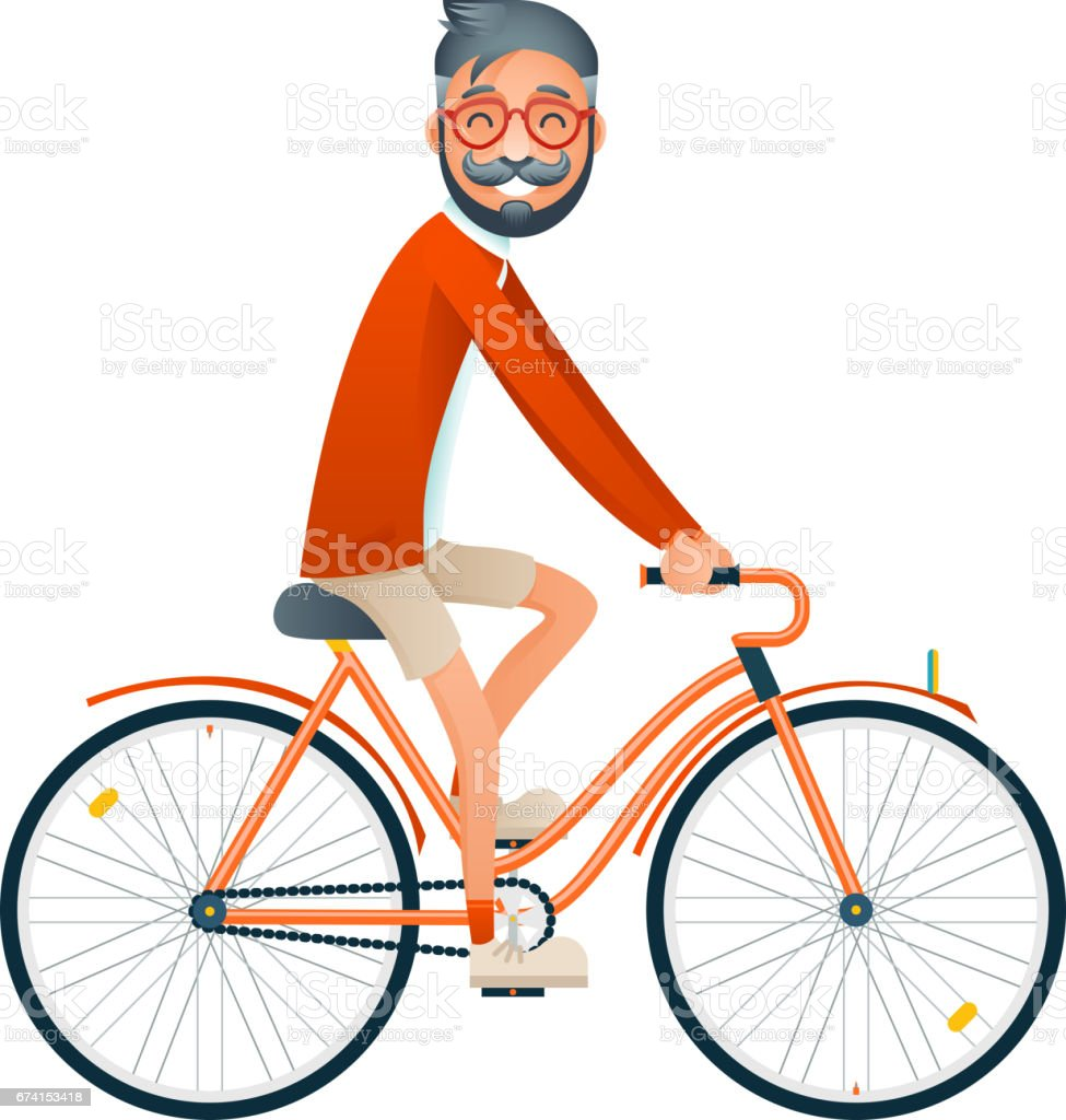 bicycle ride geek hipster travel lifestyle concept tourism journey