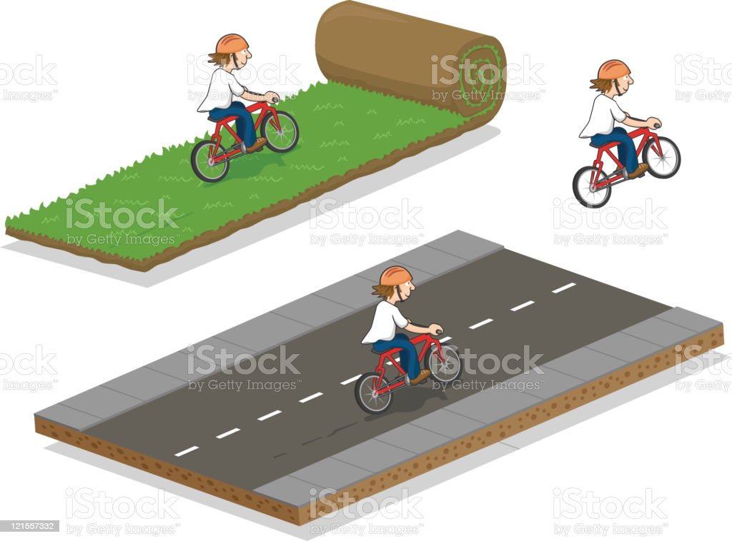 Bicycle Riders royalty-free stock vector art