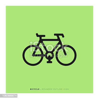 Bicycle Rounded Line Icon
