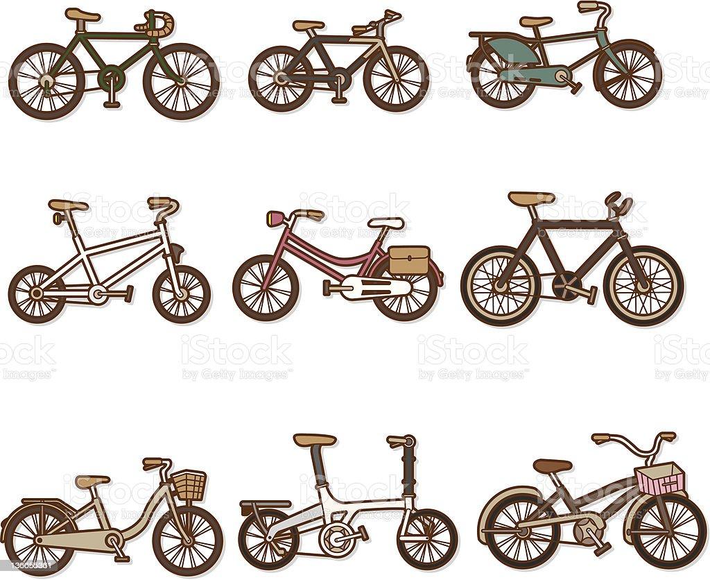 Bicycle set royalty-free stock vector art