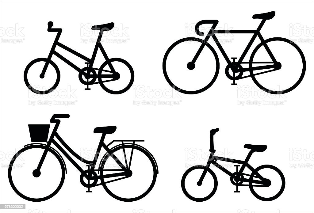 Bicycle sign A set vector art illustration