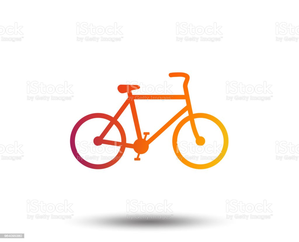 Bicycle sign icon. Eco delivery. - Royalty-free Art stock vector