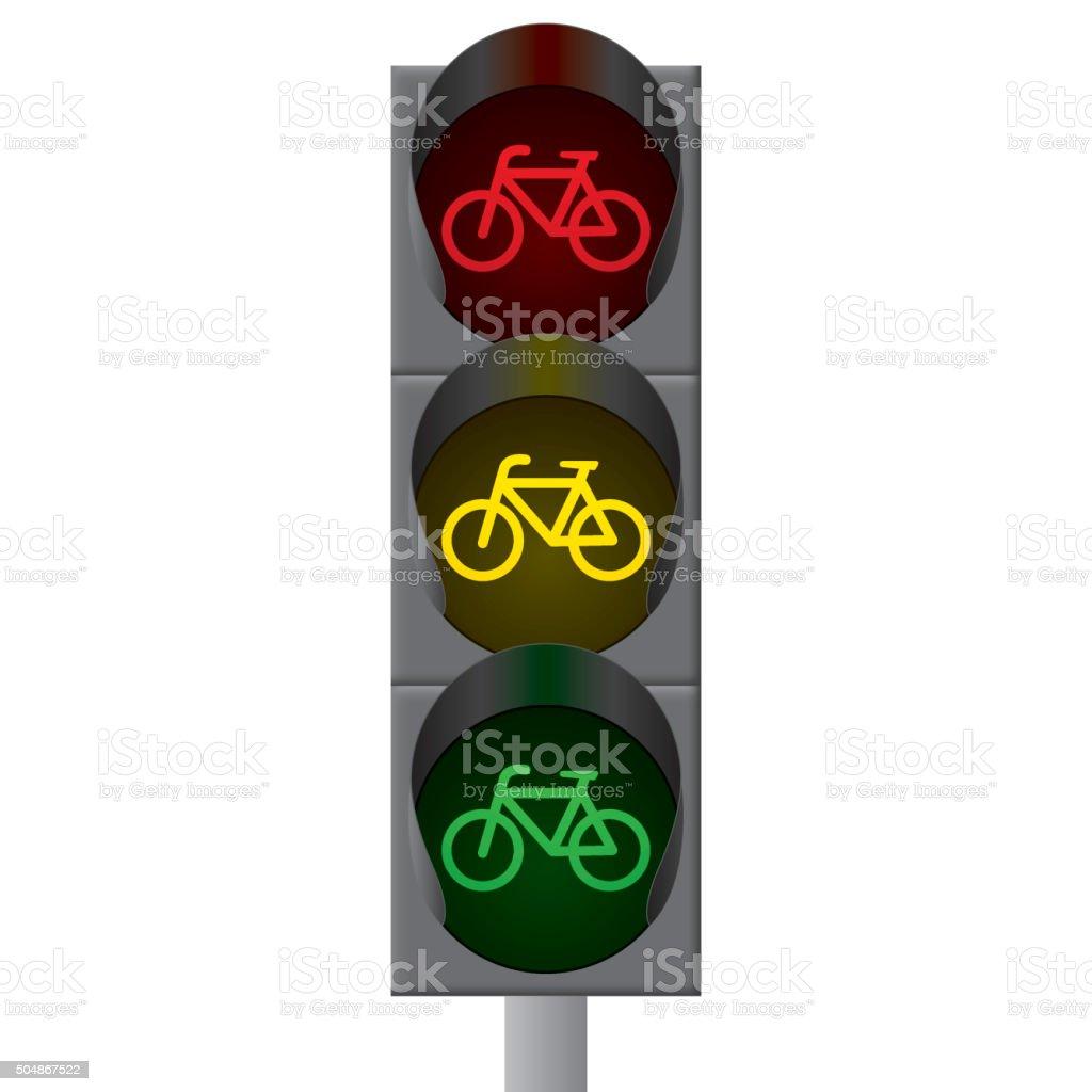 Bicycle Traffic Lights Vector Stockvectorbeelden 504867522 Istock