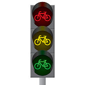Bicycle traffic lights. Vector