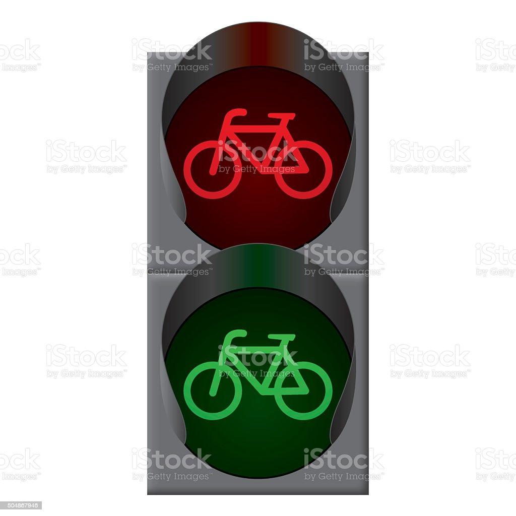 Fahrrad Ampel Vektor Stock Vektor Art Und Mehr Bilder Von Abwarten