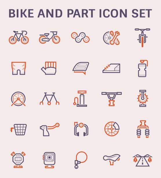 stockillustraties, clipart, cartoons en iconen met fiets vector pictogram - gopro