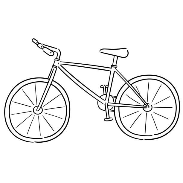 fahrrad - fahrrad stock-grafiken, -clipart, -cartoons und -symbole
