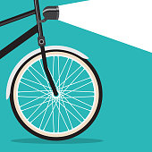 bicycle poster concept for car free day etc.
