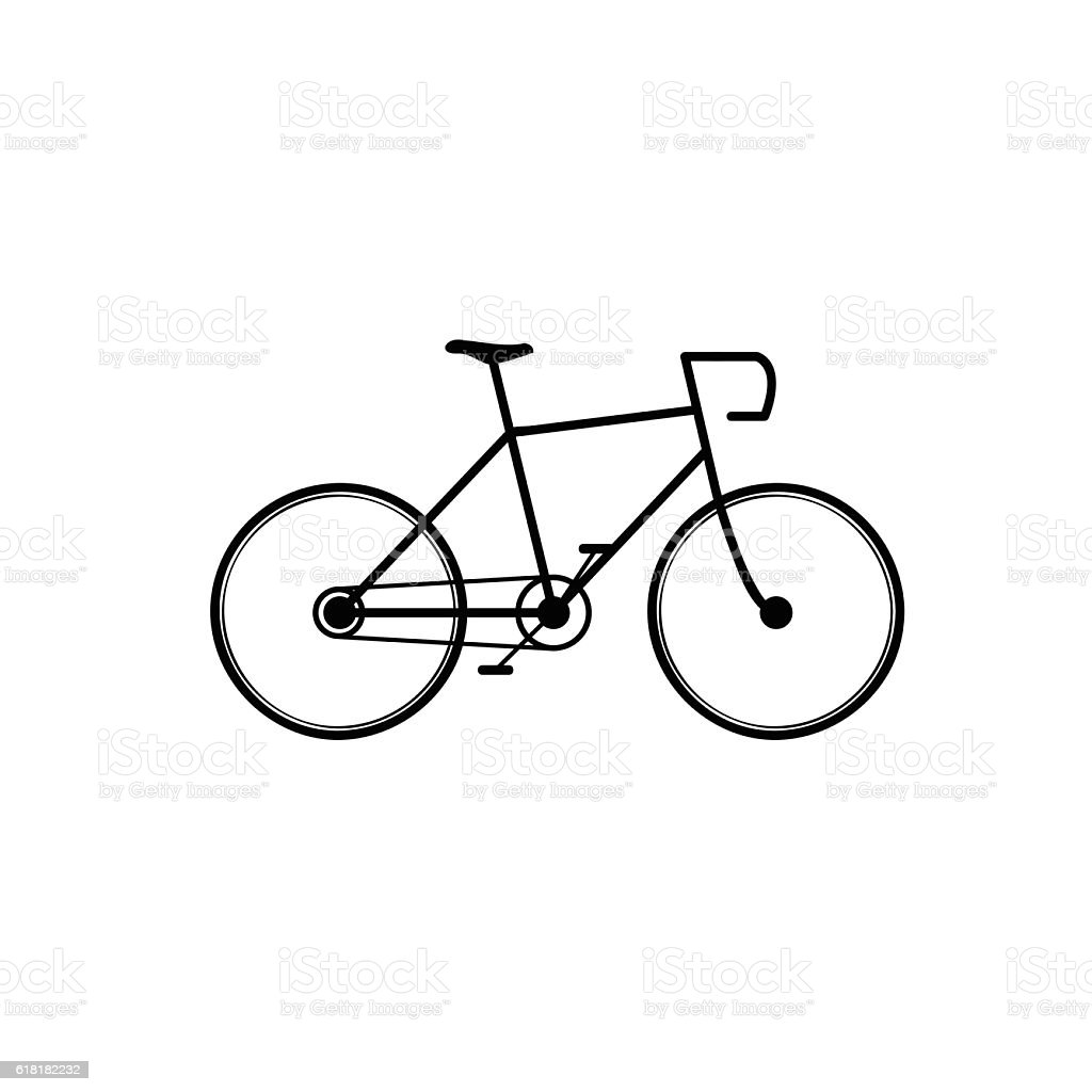 Bicycle vector art illustration