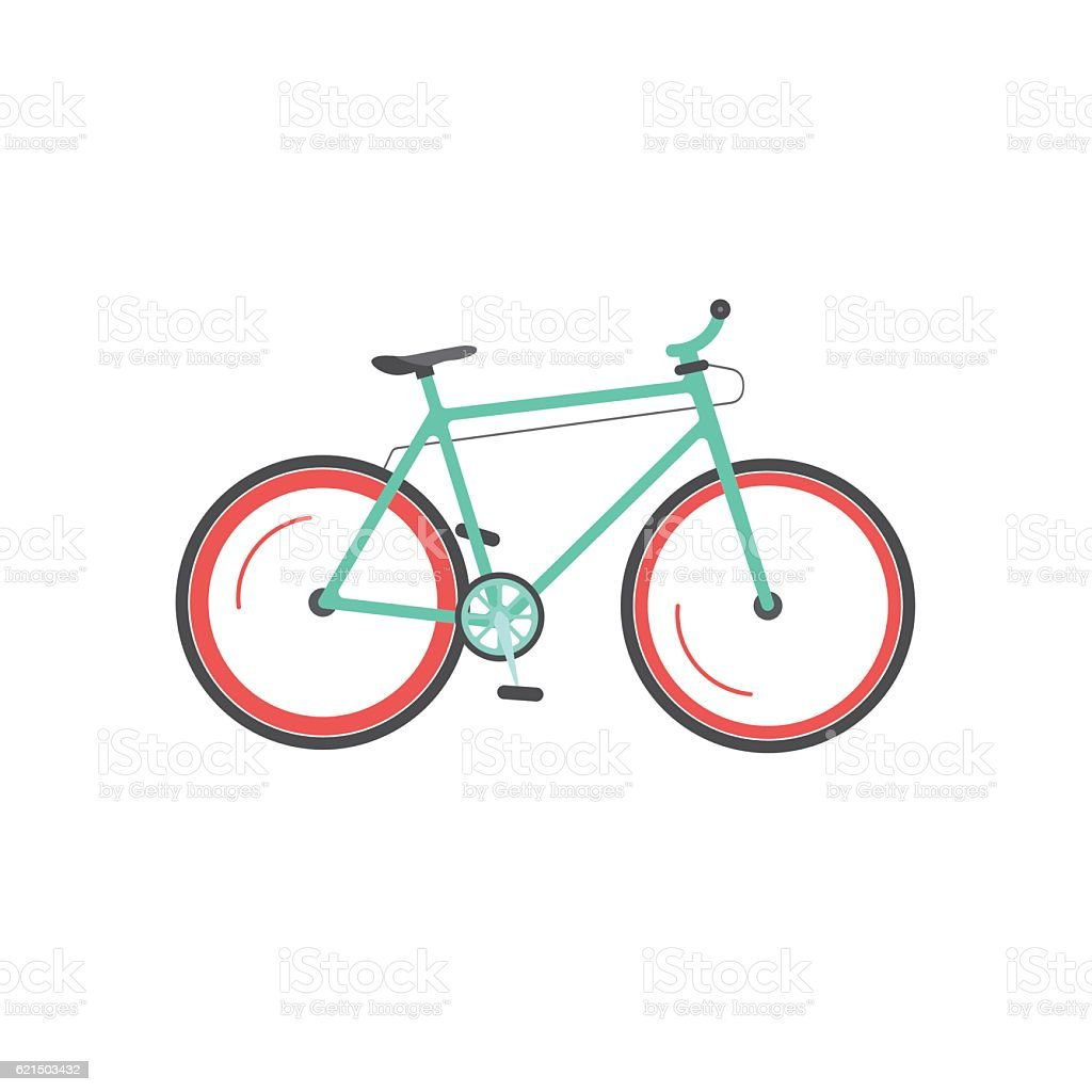 Bicycle vector illustration isolated, mountain sport bike moving, cycle icon Lizenzfreies bicycle vector illustration isolated mountain sport bike moving cycle icon stock vektor art und mehr bilder von fahrrad